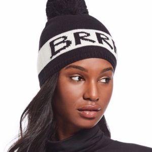 Kate Spade Black BRRR Beanie Hat NWT